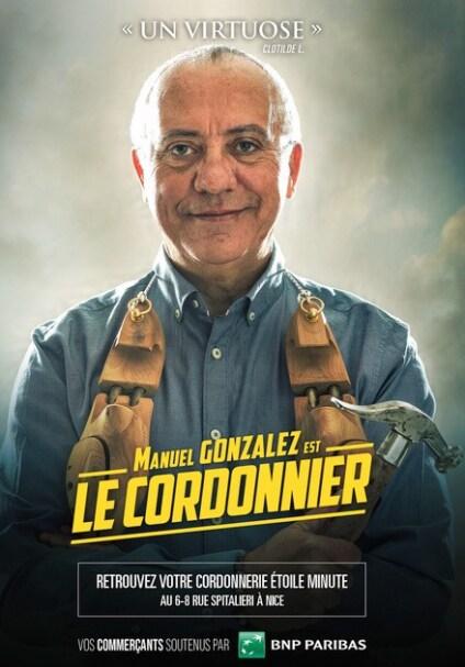 Nos commerçants à l'affiche, Manuel Gonzalez à Nice